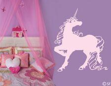 Wandtattoo Einhorn Kinderzimmer Prinzessin Märchen Wandaufkleber Sticker uss322
