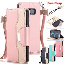 Fr Samsung Galaxy Note8 S8+ S7 S6 Hybrid Wallet Case Flip PU Leather S