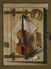 "William Michael Harnett : ""Still Life—Violin and Music"" (1888) — Fine Art Print"