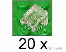 Lego - 20 x mini-Dachstein 30 grados 1x1x2/3 transparente clara/mercancía nueva 54200