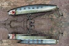 Bass Lure Slow Pitch Sinking wobbler 110mm 22g shallow running BKB Hooks 3D Fish