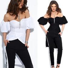 BY ALINA Damenshirt Top Tunika T-Shirt Bluse Longshirt Oberteil 34 - 38 #B649