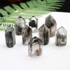 Natural Green Ghost Crystal Chlorite Quartz Obelisk Green Phantom Point Healing