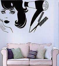 Wall Sticker Vinyl Decal Beauty Salon Barbershop Hair Style Girl (ig1899)