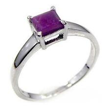 Damen Ring Milla, 925er Silber, 0,8 Kt. Rubin, 5 x 5 mm