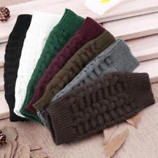 Fashion Knitted Fingerless Winter Gloves Soft Warm Mitten Solid for Men Women JJ