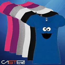 Camiseta mujer monstruo come galletas cookie dibujos barrio ENVIO 24/48