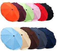 BABYLUX Sonnenschirm Schirm für Kinderwagen UNIFARBEN