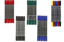 6 Textilmalstifte Textilmaler Stoffmalstifte Textilmarker dünne + dicke Spitze