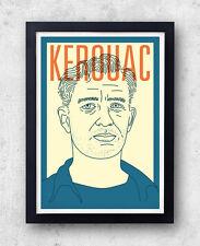 Kerouac imprimer! jack kerouac poster, sur la route, le dharma bums big sur, beat g
