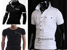 Nuevo para hombre de manga corta Polo shirt/t-shirt 100% Algodón, Reino Unido Talle S/m/l / xl/xxl