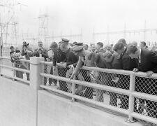President John F. Kennedy views Oahe Dam in Pierre South Dakota