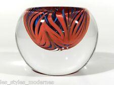 LEERDAM Holland Studioglas ° Glas Vase ° signiertes Unikat ° Design Marek Bartko