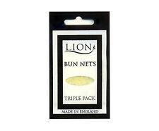 LION BUN NETS x 15, Five Triple Packs, Lion Hair Care, Best Quality, 6 COLOURS.