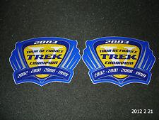 2 AUTHENTIC TREK TOUR DE FRANCE CHAMPION 2003 STICKERS / DECALS AUFKLEBER