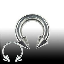 2,5mm Hufeisen Ring mit Spitzen Circular Barbell Ohr Brust Intim Piercing