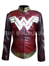 Avengers Wonder Woman Gal Gadot Stylish Motorcycle Leather Jacket - BIG SALE