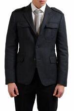 Prada 100% Wool Gray Three Button Men's Basic Jacket Sz 36 38 40 42