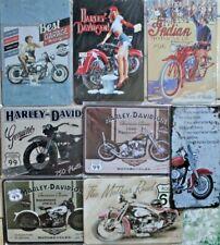 Metal Davidson Indian Motorbike Plate Sign Plaque Vintage Mancave Retro Harley