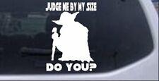 Star Wars Yoda Judge My Size Do You Car Truck Window Laptop Decal Sticker