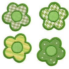 Blume zum aufbügeln 1 Aufnäher #97 GG# Neu Applikation Blümchen Flicken grün