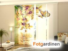 Fotogardinen Blumen, Schiebevorhang Schiebegardinen 3D Fotodruck, Maßanfertigung
