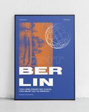 """Visita Berlino Stampa Preventivo Poster grafica!"""", è necessario andare a Berlino """"Franz von Suppé"""