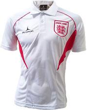 Olorun Partidarios De Inglaterra Fútbol Polo - Blanco/Rojo - S-XXXL