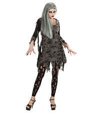 LIVING DEAD FANCY DRESS COSTUME HALLOWEEN ZOMBIE ADULT WOMAN DRESS AND LEGGINGS