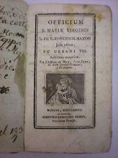 (RELIGIONE-MARIOLOGIA) OFFICIUM BEATAE MARIAE VIRGINIS