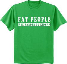 Funny St Patrick's Day T-shirt - Fat People men's green tee bar crawl big men