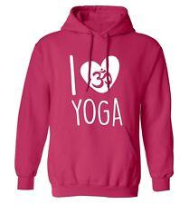 I Love Yoga hoodie / sweatshirt exercise fitness healthy lifestyle gym mat 4537