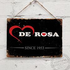 DE ROSA Replica Vintage Metal Wall Sign Retro Bike Gift Cyclist Tour Giro PIsta