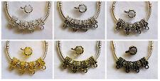 30 pc Tibetan Silver Gold Bronze Flower Bail Beads fit European Big Hole Jewelry
