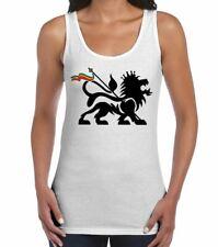 Lion Of Judah Reggae Women's Vest Tank Top - Rasta Bob Marley T-Shirt