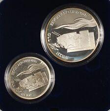1993 Israel Sheqalim Revolt & Heroism 2 Coin Silver Proof & UNC Set w/ Box & COA