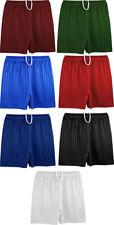 Boys Girls Kids Childrens School Adult Sports Shadow Stripe PE Shorts