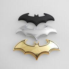 Chrome Metal Badge Emblem Batman Tail Decals Auto Car Motorcycle Logo Sticker 3D