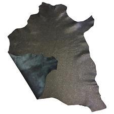 Black Leather Hide Thin Lambskin Skins Craft Supply Hides Genuine Leather FS913