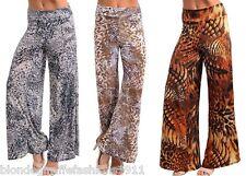 Animal Leopard/Tiger Safari Wide Leg Gaucho/Palazzo Long Pants/Slacks Plus