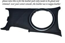 black stitch FITS MAZDA RX8 CENTRE CONSOLE GEAR SURROUND COVER LEATHER 2003+