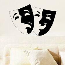 Sticker Déco Masques Vénitiens, Carnaval 10x15 cm et 30x45 cm (MASQ001)