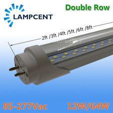 2-6/Pack 2ft 3ft 4ft 5ft 6ft T8 LED Tube Bulb Double Row Lights Bar Lamp 110V