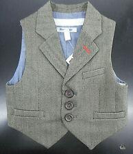 Boys $59.50 Brown Herringbone Vest Sizes 2 - 5