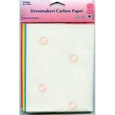 Dobladillo Confeccionistas sastres Carbono Papel Pack De 5 Hojas 23 X 28 Cm 70 X 24 Cm