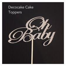 Oh Baby -Delicate Baby Shower Cake Topper   Various Colours Australian  Seller