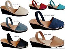 Avarcas menorquínas cuña tacón Wedge heel 5 cm real menorcan sandals menorca