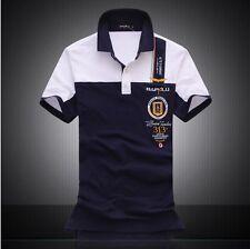 BAPALU Men's Summer Short Sleeve Polo Classic Casual Shirts T Shirts 100%Cotton