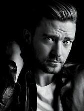 Justin Timberlake Portrait Pop Music BW Rare HUGE GIANT PRINT POSTER