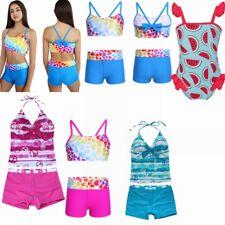 Girls Kids Tankini Set Swimwear Bikini Skirt Swimsuit Swimming Costume Age 0-16Y